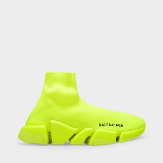 Balenciaga Speed Lt 2.0 Trainers In Fluo Yellow Mesh