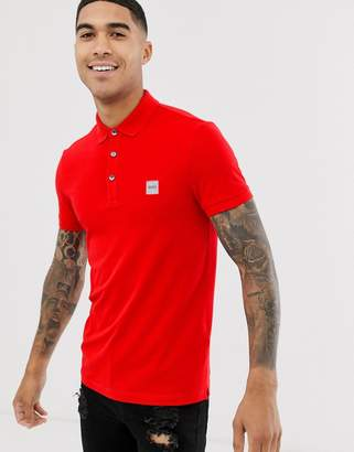 BOSS Passenger slim fit logo polo in red
