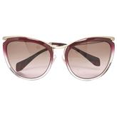 Miu Miu Pink Plastic Sunglasses