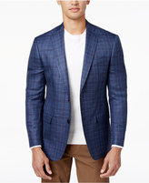 MICHAEL Michael Kors Men's Classic-Fit Blue Plaid Sport Coat