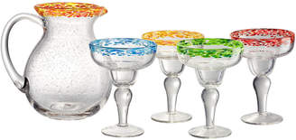 Artland Mingle 5Pc Pitcher & Margarita Glass Set