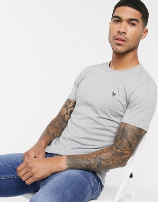 Paul Smith slim fit zebra logo t-shirt in gray