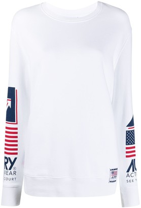 AUTRY Graphic Sleeve Print Sweatshirt