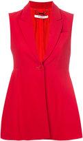 Givenchy fitted flared waistcoat - women - Silk/Spandex/Elastane/Acetate/Viscose - 36