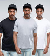 Asos TALL 3 Pack Oversized T-Shirt with Crew Neck SAVE