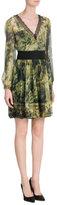 Alberta Ferretti Printed Silk Chiffon Dress
