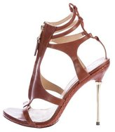 Brian Atwood Cutout Leather Sandals
