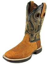 "Durango Rebel 12"" Western Men W Square Toe Leather Brown Western Boot."