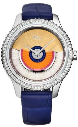 Christian Dior Women's CD153B12A001 'Grand Bal' Peach Dial Diamond Set Swiss Automatic Watch
