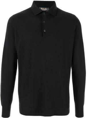 Loro Piana long-sleeve fitted polo shirt