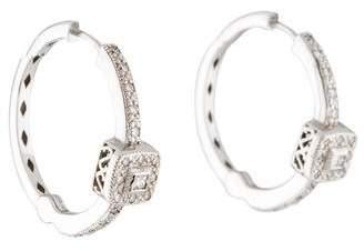Charriol 18K Diamond Hoop Earrings