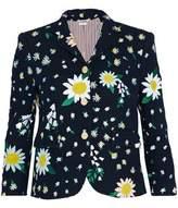 Thom Browne Embroidered Cotton-Tweed Blazer