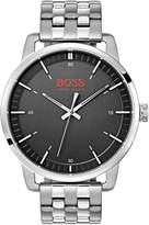 Hugo Boss Orange Stockholm Black Dial Stainless Steel Bracelet Mens Watch