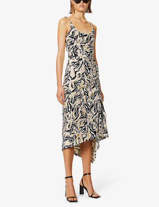 Paco Rabanne Abstract-print woven maxi dress