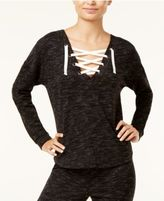 Ultra Flirt Juniors' Convertible Lace-Up Sweatshirt