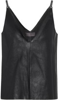 STOULS Salome leather camisole