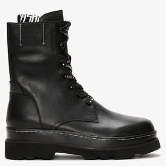 Ash Stone Norton Black Leather Ankle Boots
