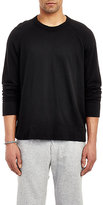 James Perse Men's Raglan Sleeve Long Sleeve Pullover-BLACK