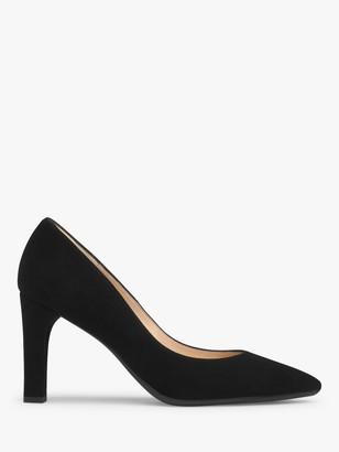 LK Bennett Tess Suede Block Heeled Court Shoes