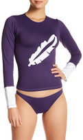 Letarte Embroidered Banana Leaf Rash Guard