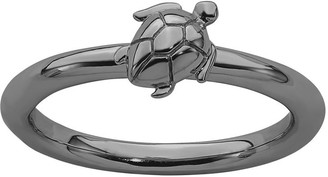 Simply Stacks Sterling Turtle Ring