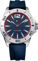 Tommy Hilfiger Men's Blue Silicone Strap Watch 45mm 1791261, Created for Macy's