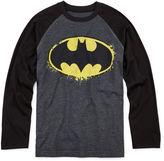JCPenney Novelty T-Shirts Batman Long-Sleeve Raglan Tee - Boys 8-20