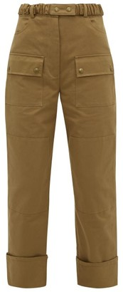 Symonds Pearmain - Belted Cotton-twill Cargo Trousers - Womens - Brown