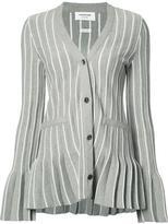 Thom Browne flared stripe cardigan - women - Cotton - 40