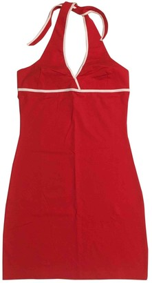 Arena Red Cotton - elasthane Dress for Women