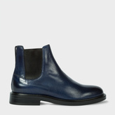 Paul Smith Women's Navy Calf Leather 'Camaro' Chelsea Boots
