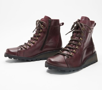 Fly London Leather_Lace-up Combat Ankle Boot - Malu