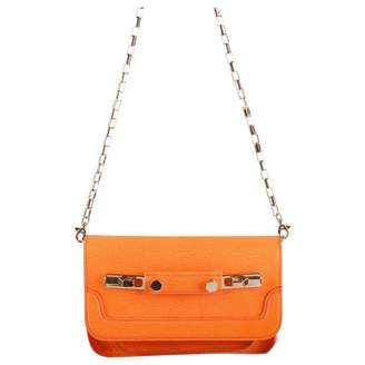 MSGM Orange Leather Handbags