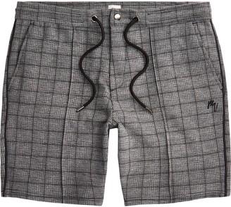 River Island Mens Big & Tall Maison Riviera Grey check shorts