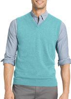 Izod V Neck Cotton Blend Sweater Vest