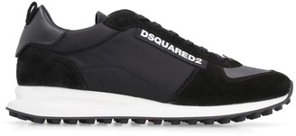 DSQUARED2 New Runner Hiking Techno Fabric And Suede Sneakers