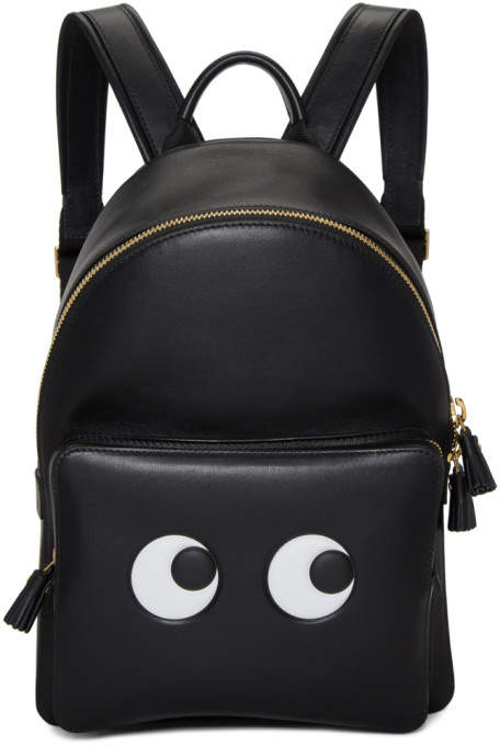 Anya Hindmarch Black Mini Eyes Backpack