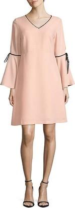 Nanette Lepore Women's Long Bell SLV Fit&Flare Dress