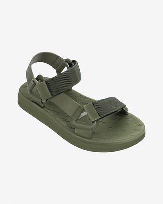 Express Melissa Green Papete + Ride Sandals