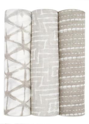 Aden Anais Shibori 3-Pack Silky Soft Swaddling Cloths