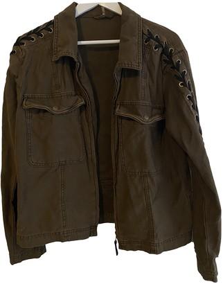 Free People Khaki Cotton Jacket for Women