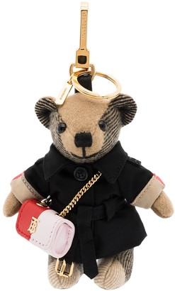 Burberry Thomas cashmere and cotton-blend keyring