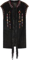 Isabel Marant Martin fringed embroidered suede vest