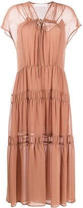See by Chloe Short-Sleeve Tiered Dress