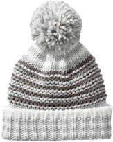 Joe Fresh Women's Stripe Knit Winter Hat, Grey (Size O/S)