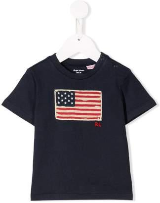 Ralph Lauren Kids Flag patch T-shirt