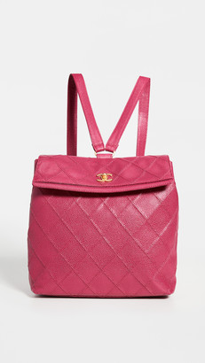 What Goes Around Comes Around Chanel Purple Caviar Backpack
