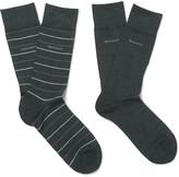 Hugo Boss - Two-pack Stretch Cotton-blend Socks