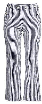 Trina Turk Women's Lyric Theater Striped Cropped Pants