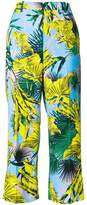 Versace palm print cropped trousers
